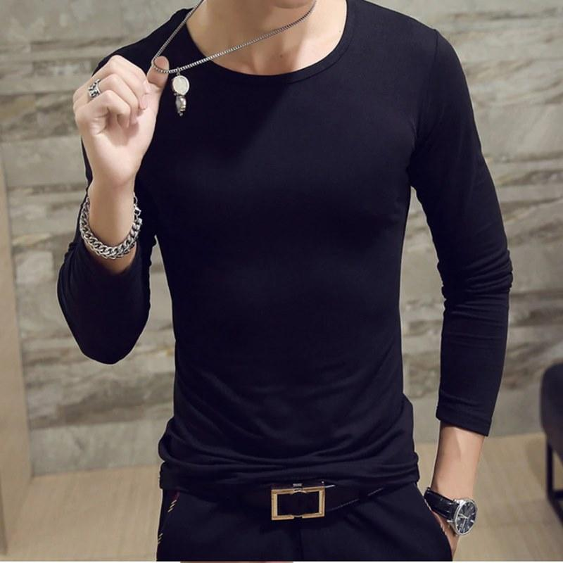 Sleeves Black Maroon Gray T Shirts for Men 4.jpg