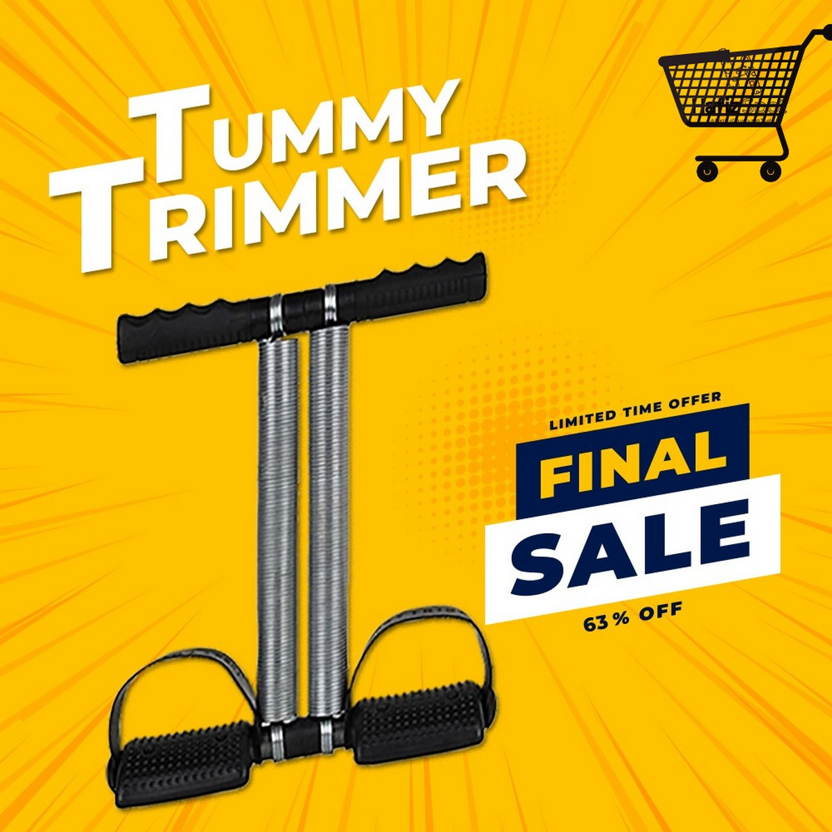 High Quality Tummy Trimmer Double Spring home Gym Abs Exerciser