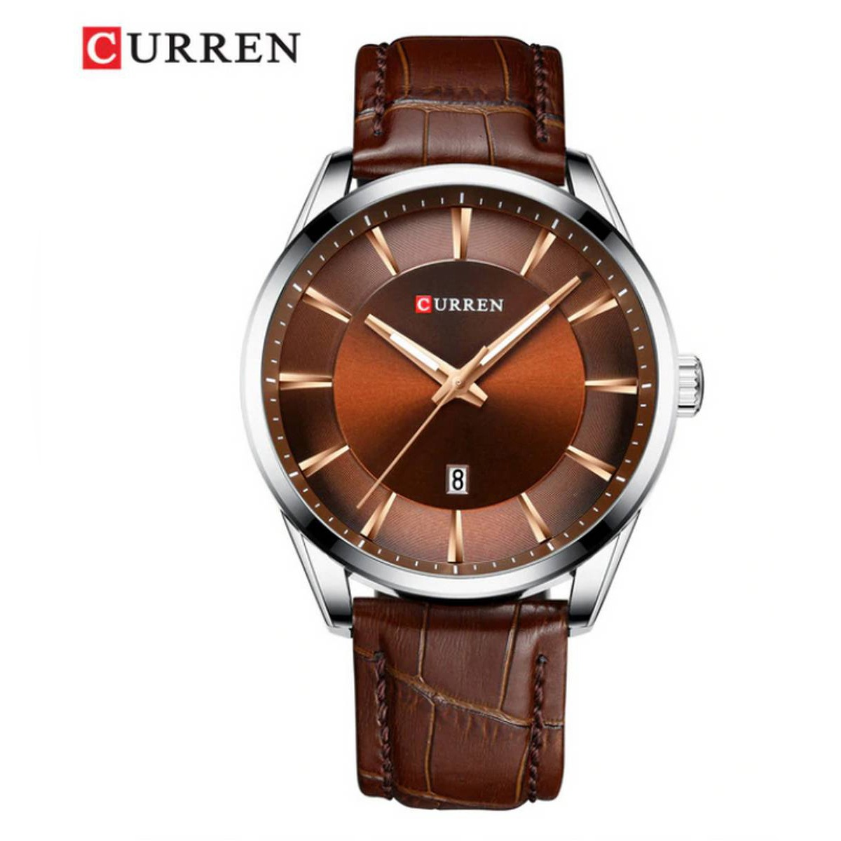 CURREN Leather Straps Japan Quartz Wristwatches With Box And Bag - 8365