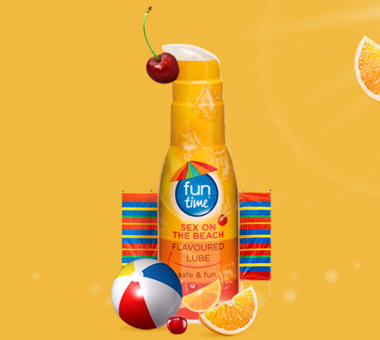 PlayTime Funtime Flavoured Lube SexOnTheBeach Lubricant Gel 75ml