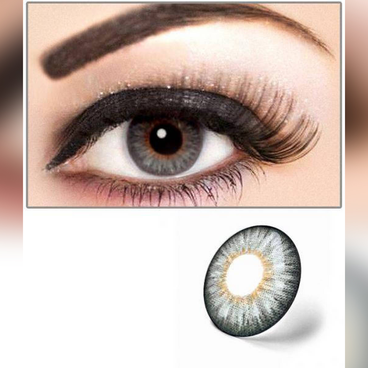 Event 3 Tone Contact Lenses Eye Wear + free water kit 7 DAYS LENSE MADE IN KOREAN/ disposible lenses / lense, eye lense / color lense / eye lenses for girls