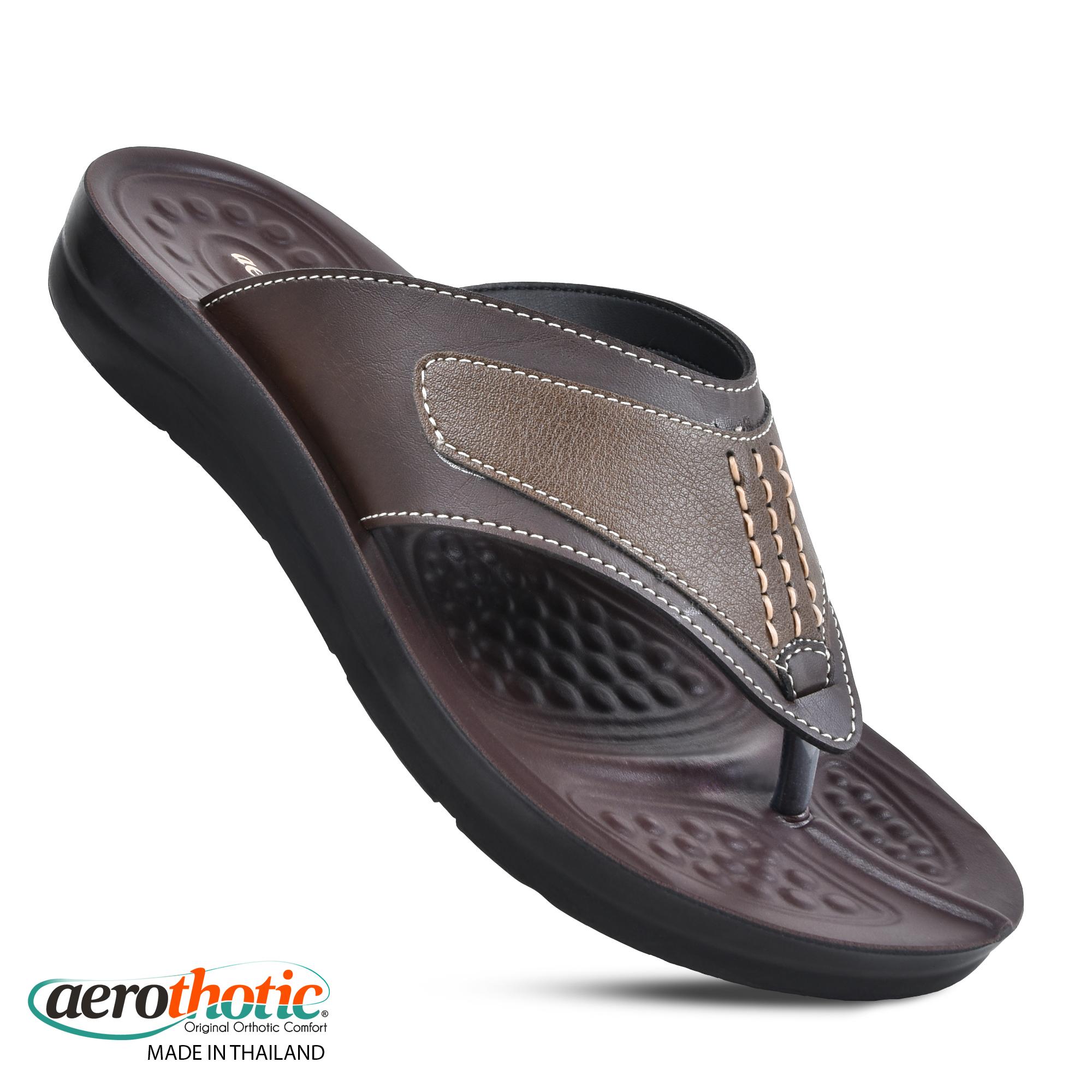 AEROTHOTIC Men's Durable Fashion Flip Flops - Original Thailand Imported - M0602