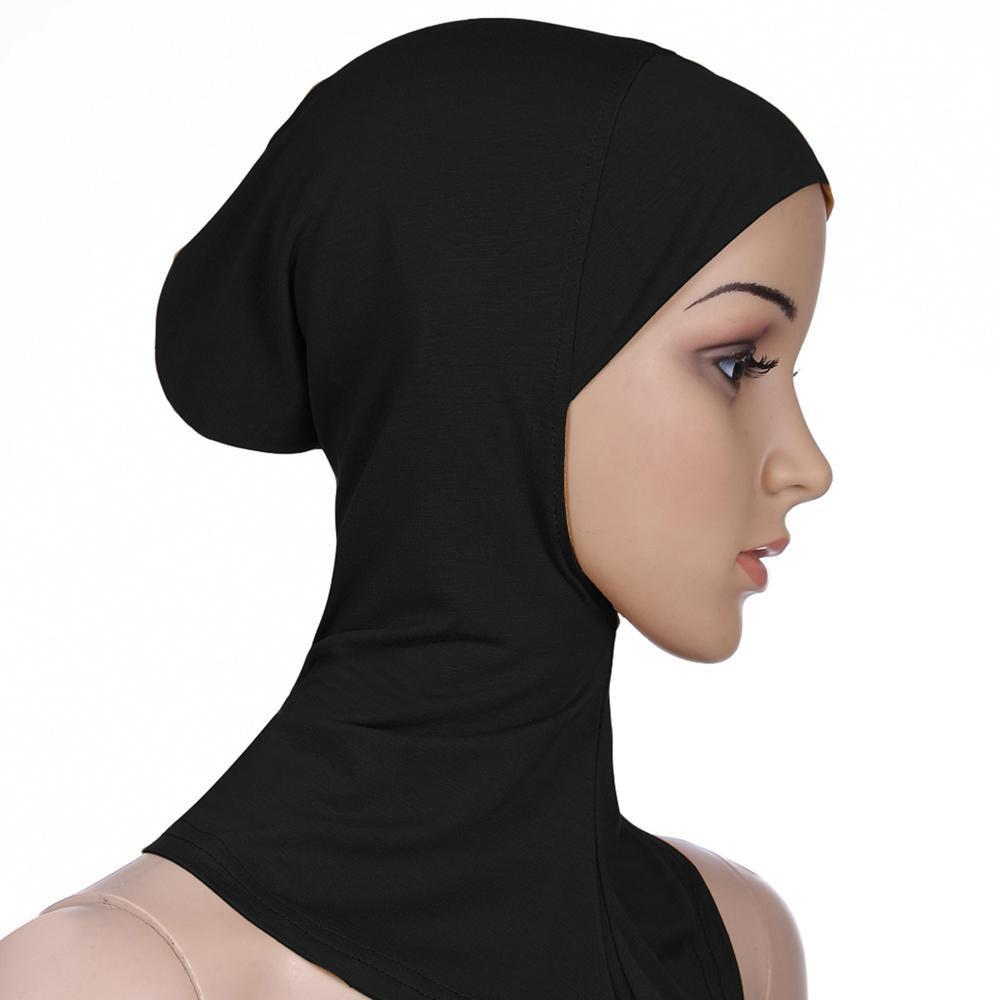 51312466 Kobwa Soft Muslim Full Cover Inner Hijab Cap for Women Islamic Underscarf  Neck Head Bonnet Hat
