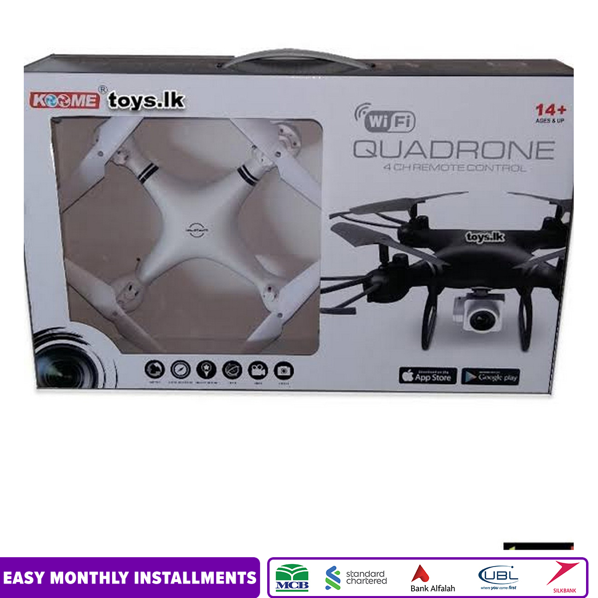 Koome K3c headless quad drone