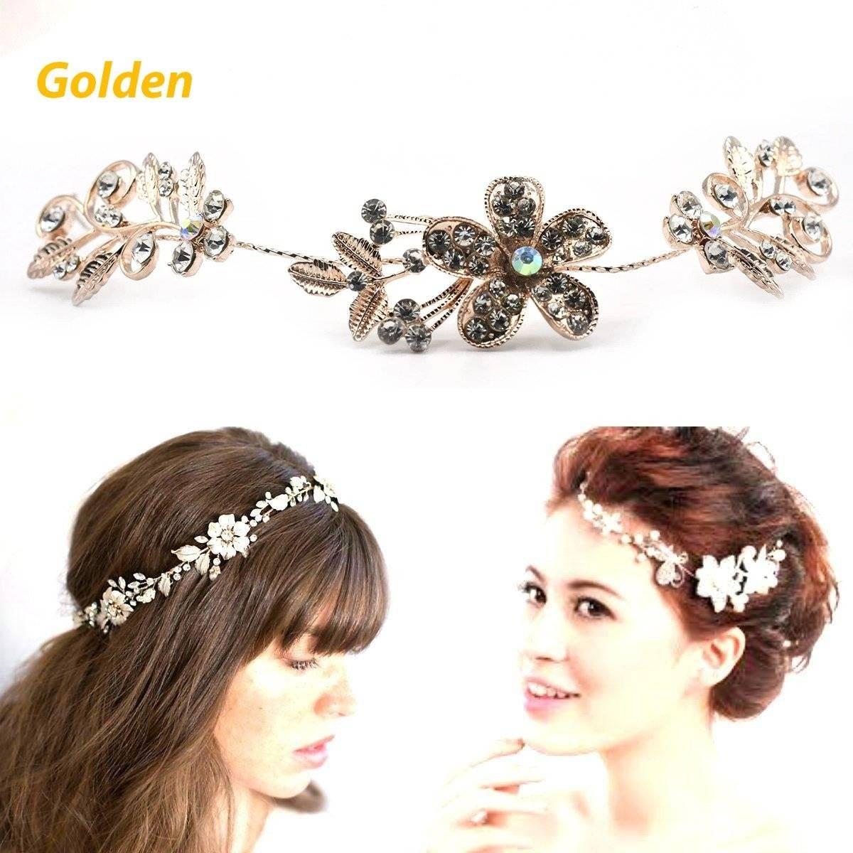 Crystal Pearl Bridal Headbands Hair Jewelry Wedding Hair Vine Headpiece Tiara Wedding Hair Accessories Handmade