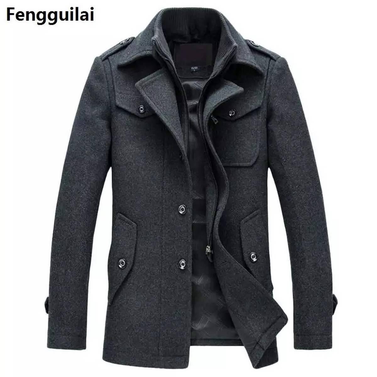 Warm Winter James Bond Fleece Coat For Men