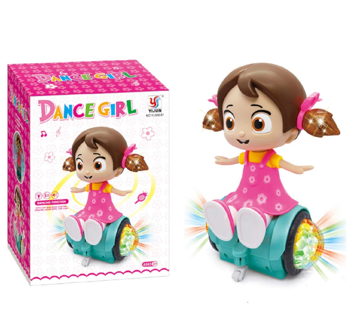 Dancing Girl Toy with 3D Lights and Music, Musical Dancing Girl Doll Toy for Kids