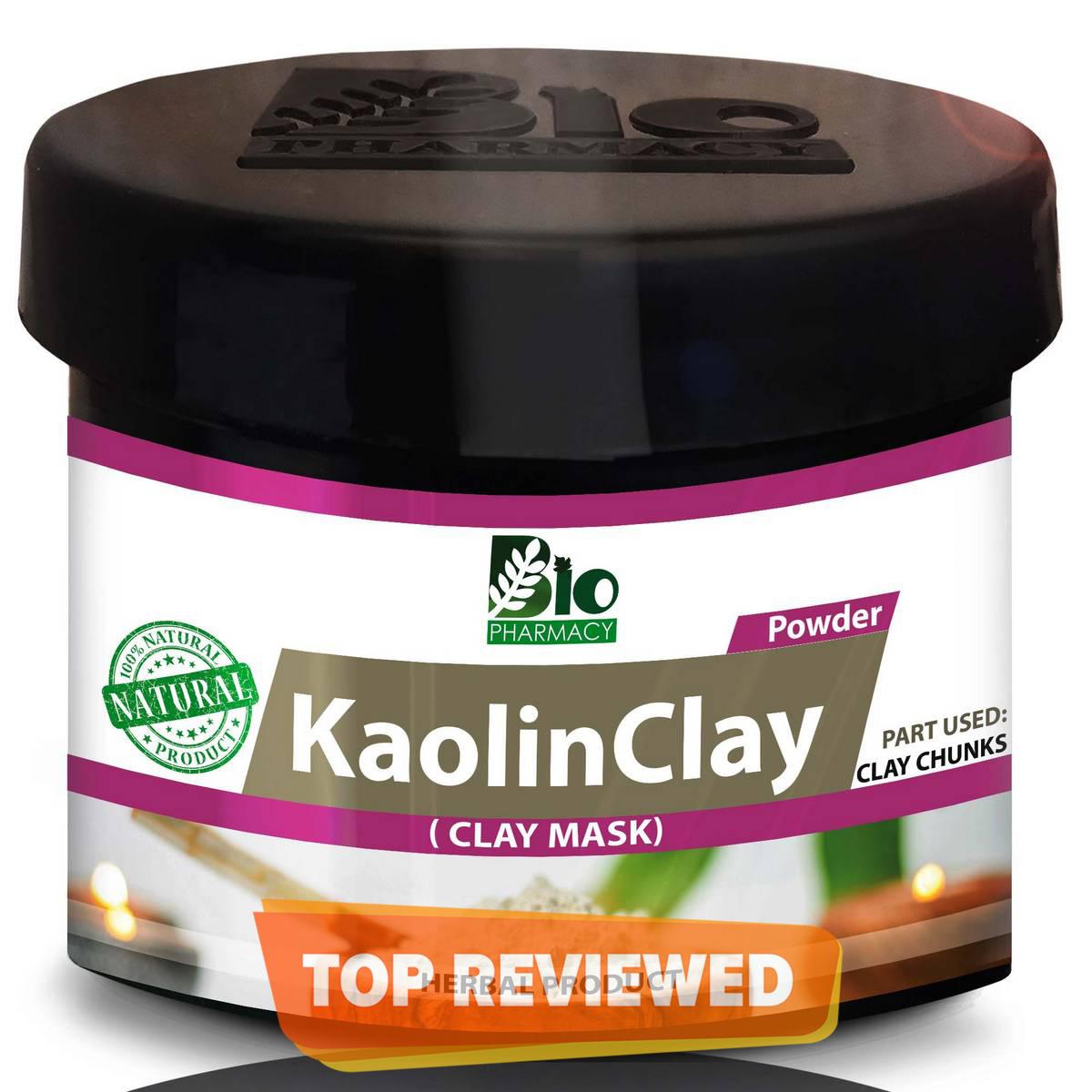 Kaolin Clay Powder  White Clay Mask Powder for Skin Pack 100% Natural