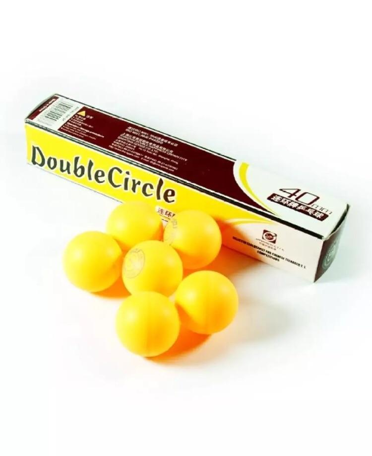 Double Circle Table Tennis Ball Pack of 6