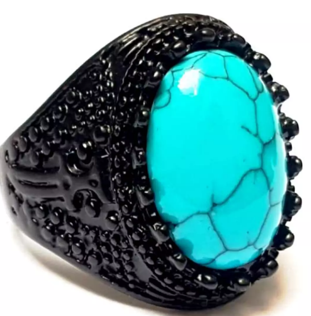 Feroza Latest Turkish Punk Rock Style beautiful Ring antique for men women boys top rated trend 2020