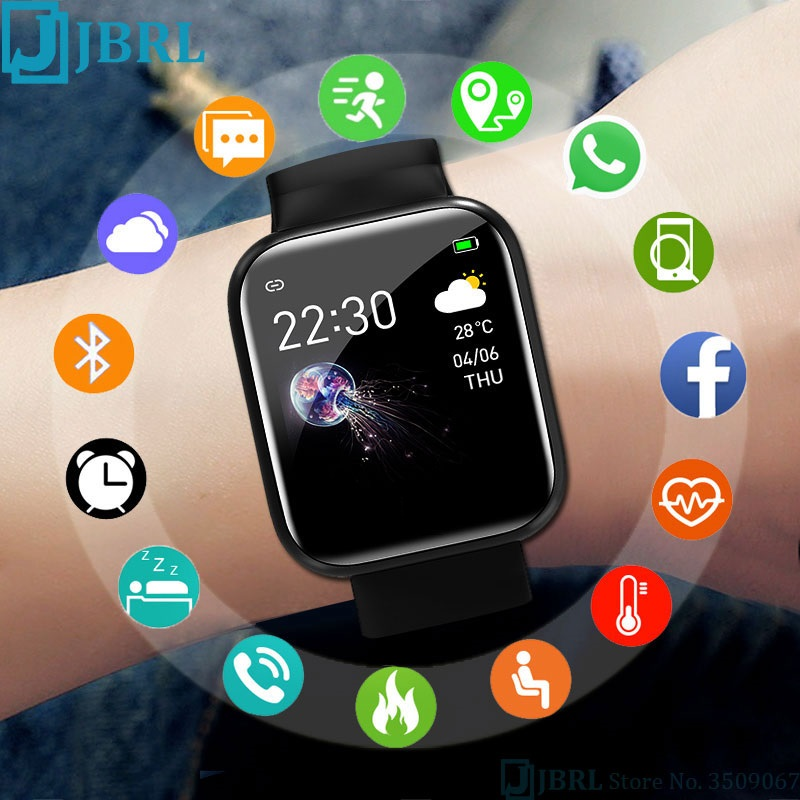 D20 Smart Watch Fitness Tracker Blood Pressure Smartwatches Waterproof Heart Rate Monitor Bluetooth Smart Wristwatch