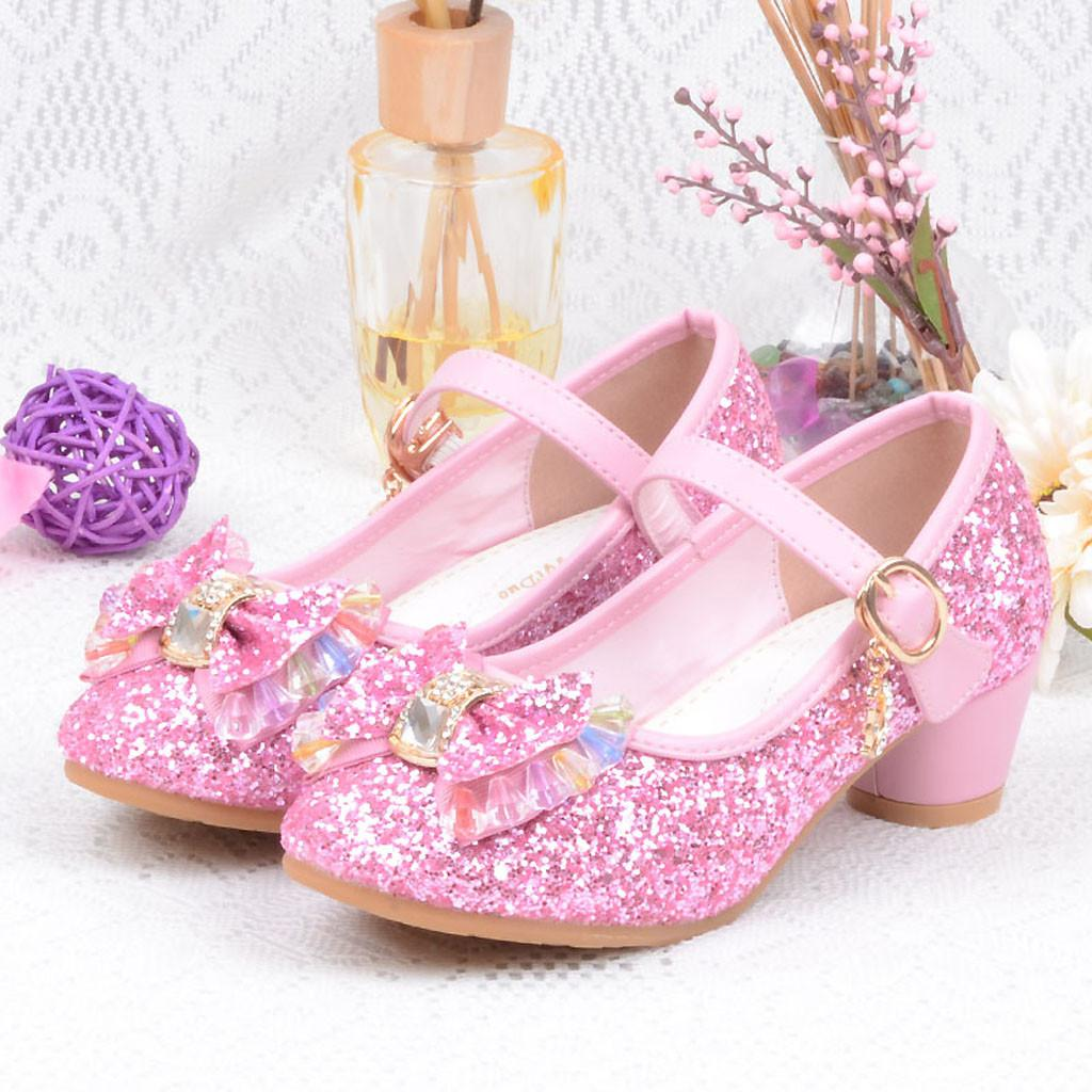 bc7c5c6ef162 Perfect Meet Princess shoes Infant Kids Baby Girls Pearl Crystal Bling  Bowknot Single Princess Shoes Sandals