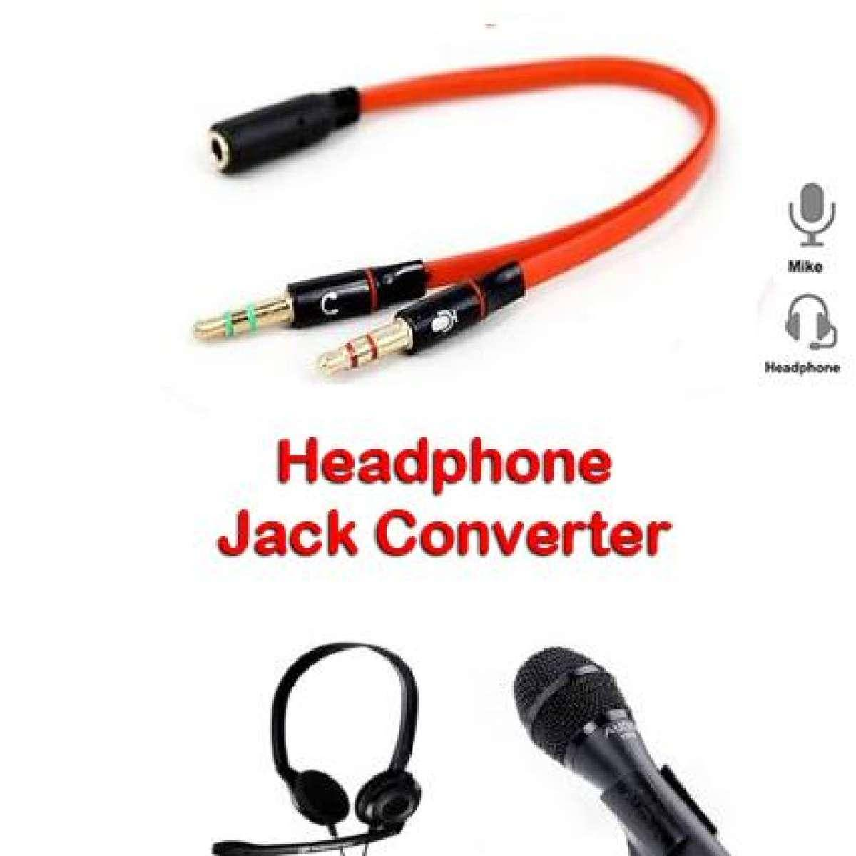 3.5mm Female to 2 Male Headphone Mic Audio Splitter Jack Cable Headset Adapter Kit Mutual Convertors for PS4,Xbox One S,Tablet,Mobile Phone,PC Gaming Headsets New Version Laptop Black and Red
