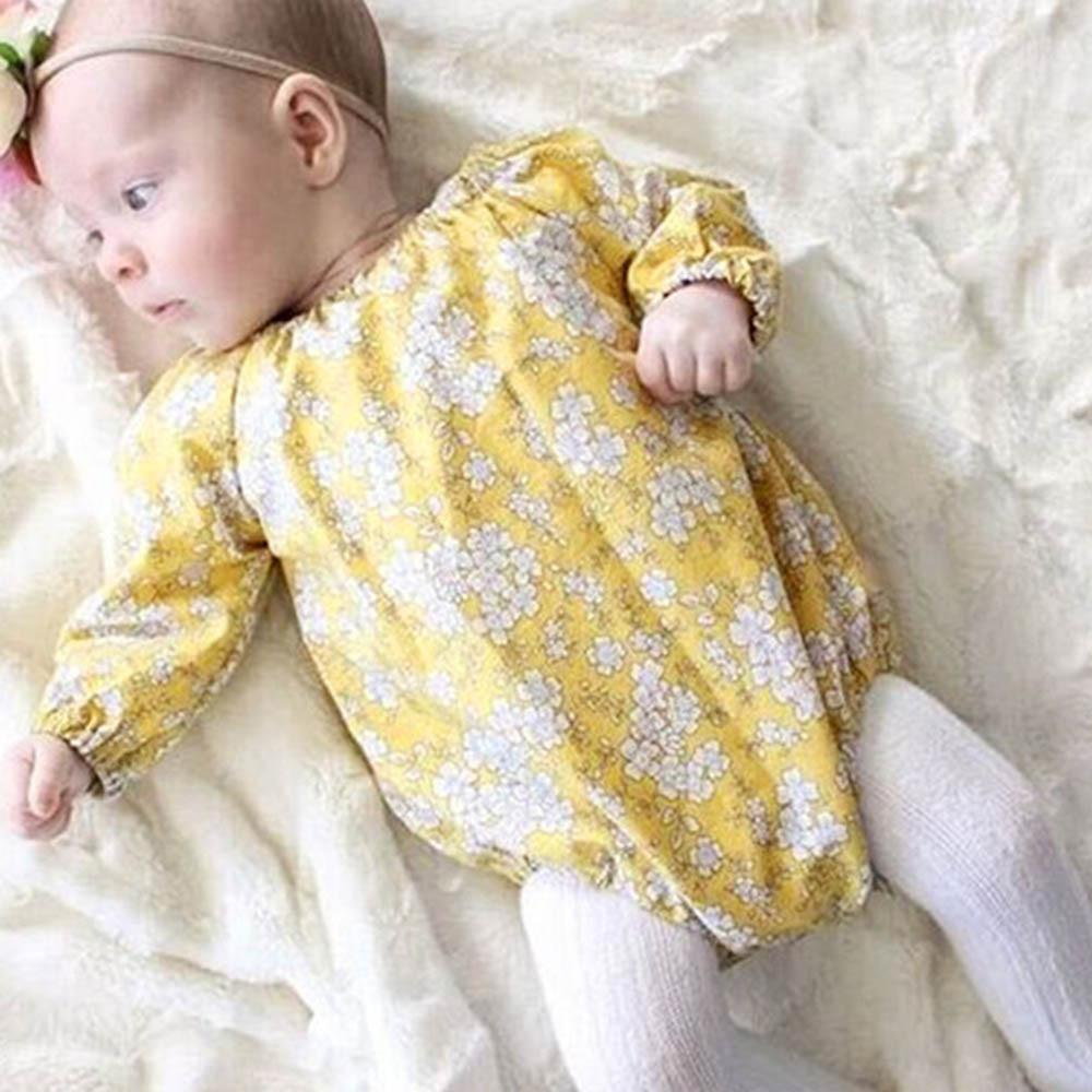 30d9591d5830 Perfect Meet cute warm Infant Toddler Baby Girl Long Sleeve Print Floral  Color Romper Jumpsuit Clothes