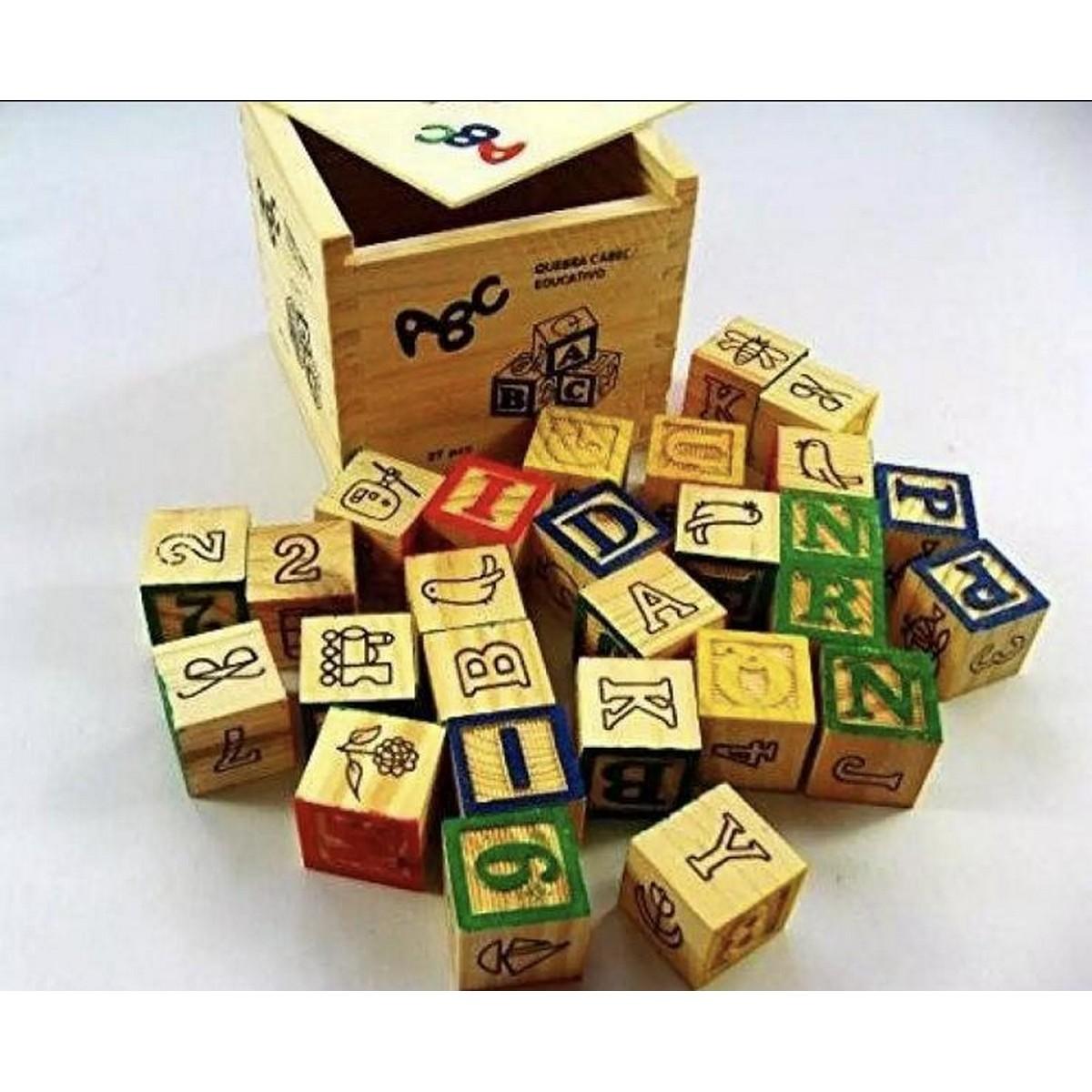 ABC Wood Blocks Box - 27 Pieces