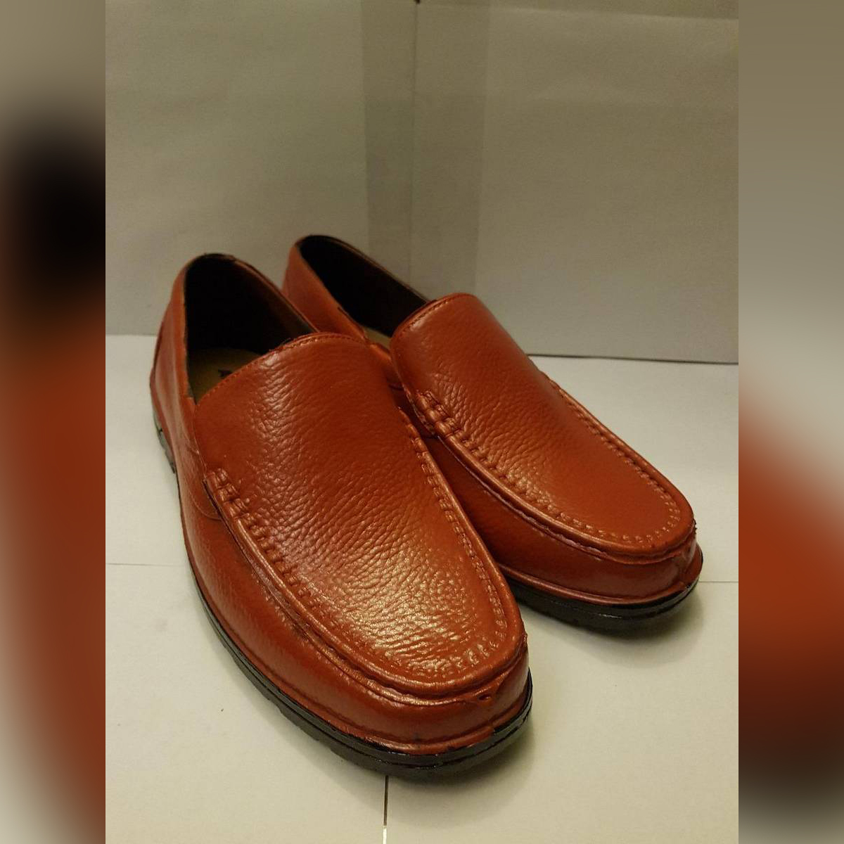 Rubber Moccasins Shoes - Waterproof - Soft And Comfortable - Light Brown Color-A028