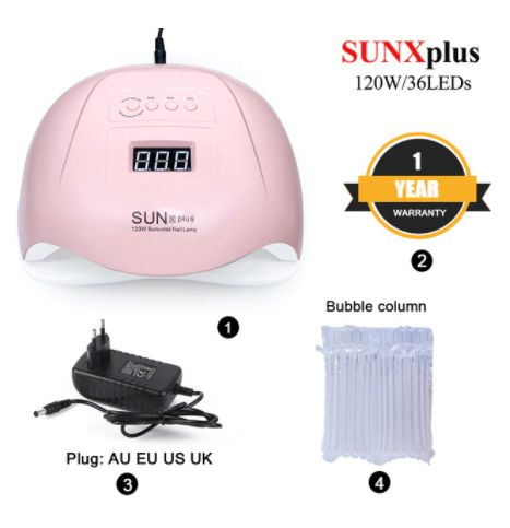 Nail Art Professional Saloon 120W SUNX Plus UV LED Lamp Fast Nail dryer For All Gels 36 LEDs With 10s30s60s Timer Automatic induction New Arrival