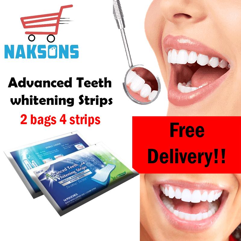 2Pcs/Bag Advanced Teeth Oral Hygiene Care Dental Bleaching Teeth 4 Strips high quality teeth whitener