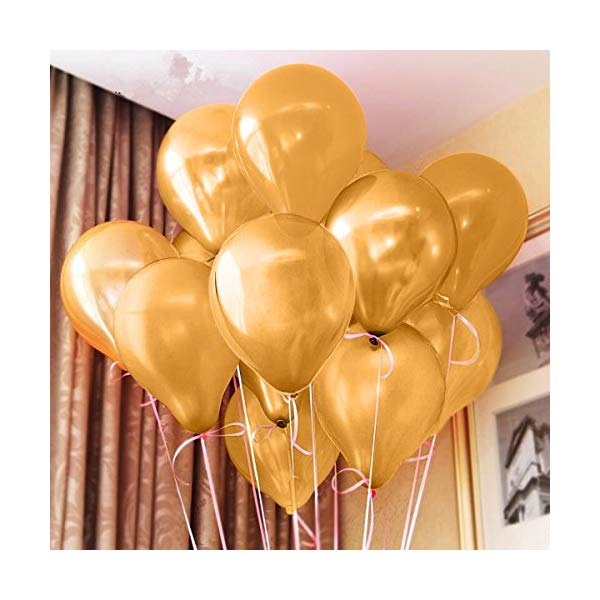 {Top Selling} 100 Pack 12 Inch Latex Gold Balloons for Party Supplies and Decorations, Shining Gold