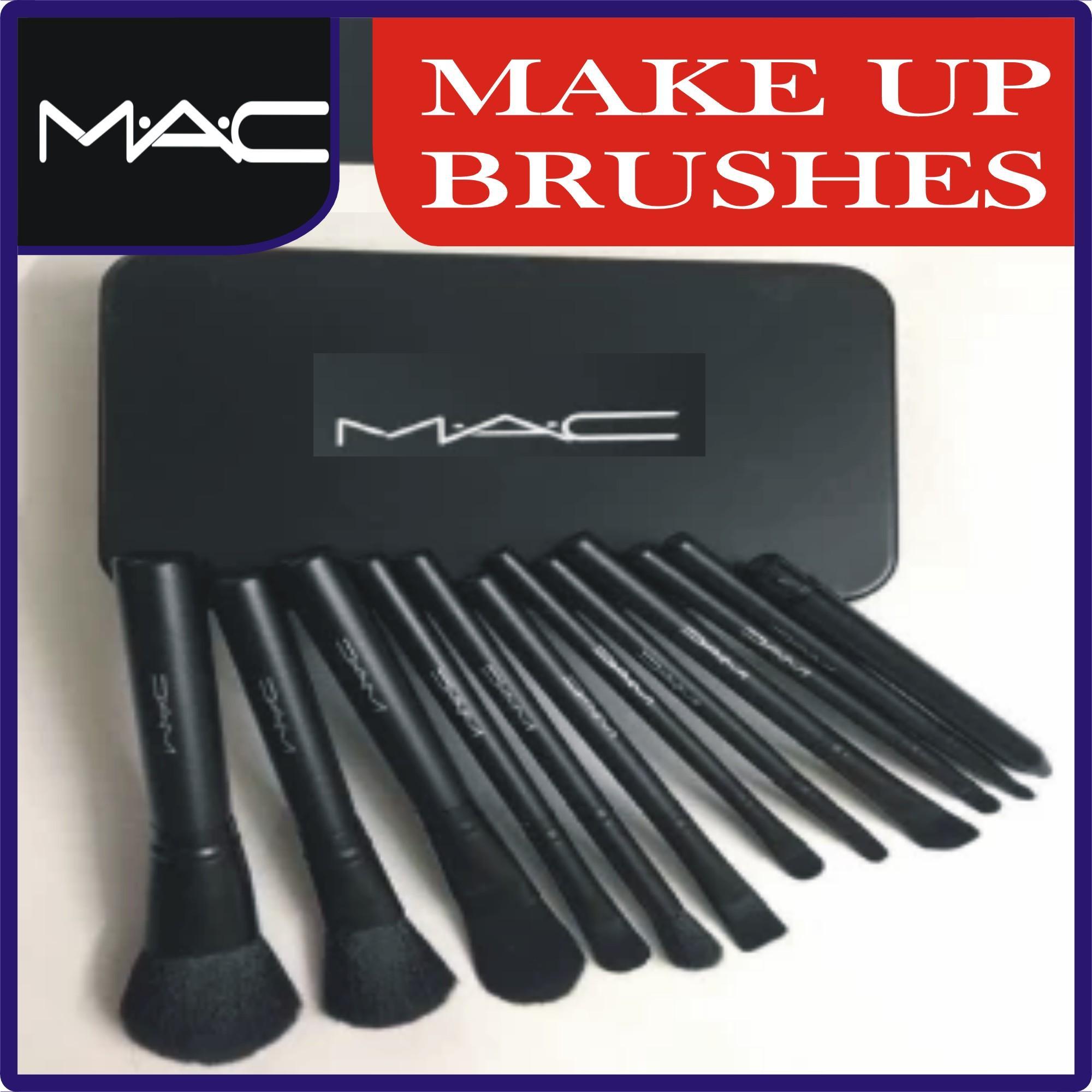 M.A.C Makeup Brush Set 12 Pcs Set in Steel Box: Buy Online at Best Prices in Pakistan | Daraz.pk