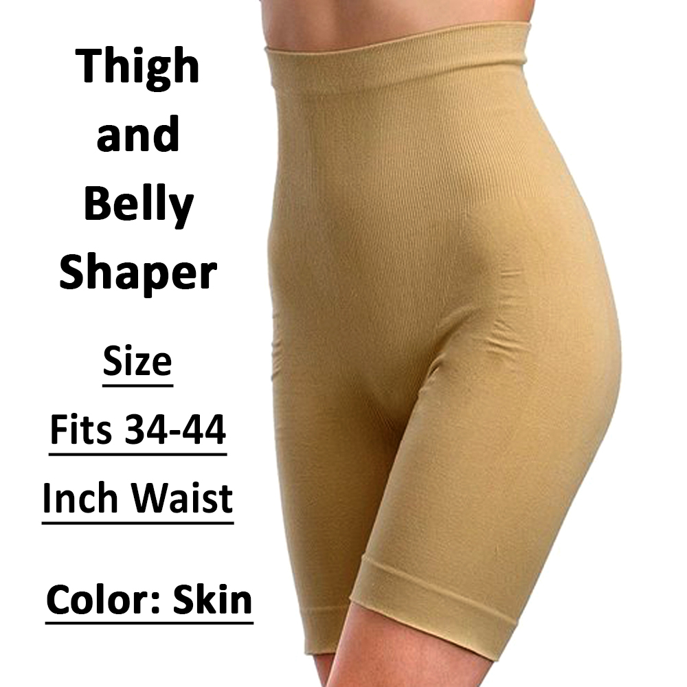 Best Quality Slimming Shorts for Women Multi Purpose Postpartum Tummy Tucker Seamless Half Body Shaper for Women Slim Tummy Control Shapewear Belt Free Size Slimming Waist Shapewear with High Waist Belt for Belly Fat Pants Fits 60 -110 KG 34-44 Inch-Waist