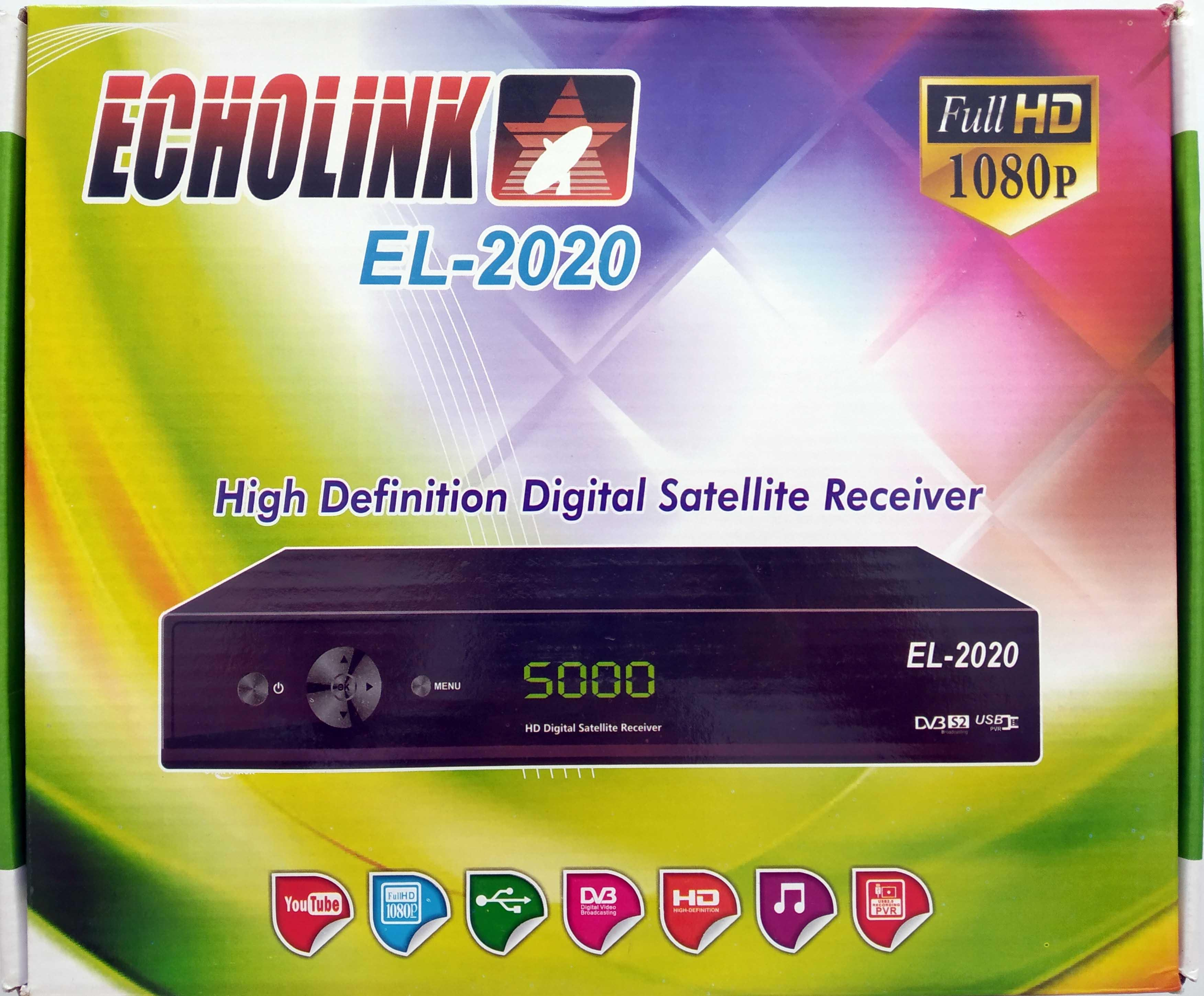 Echolink Wifi HD Digital Satellite Dish Receiver with 1 Year Cline