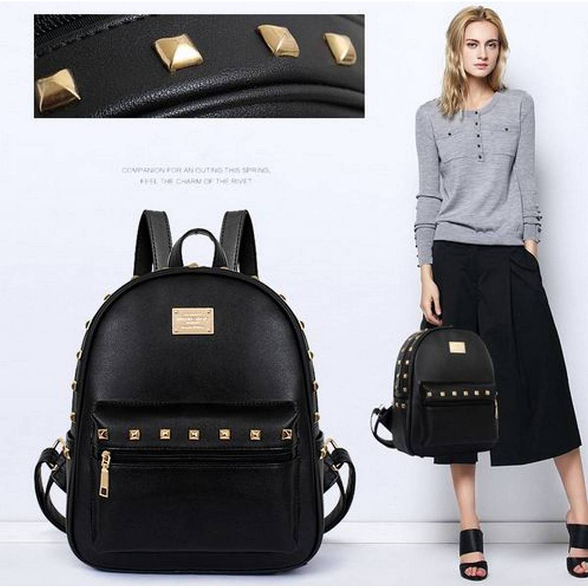 Girls School Bag, Leather Fancy and Stylish shoulder backpack, bags for school and college girls