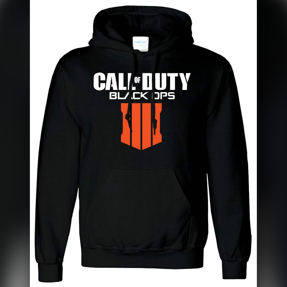 Black Printed Cotton Hoody Call Of Duty 4 Hoodie For Mens Ps4 Gameing