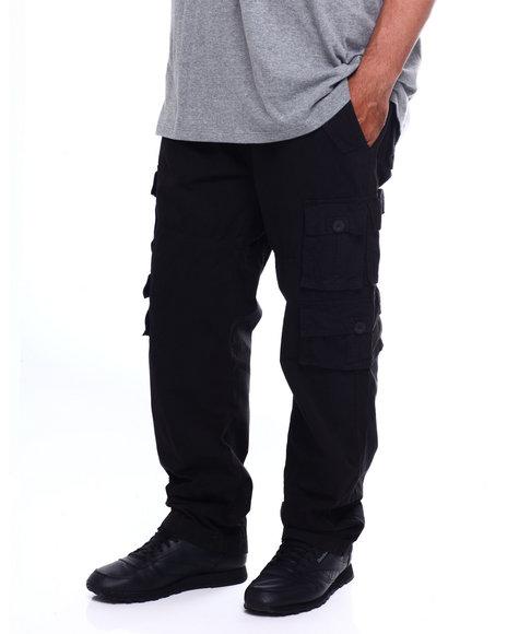 HASHBACK BLACK 10 POCKET CARGO PANT