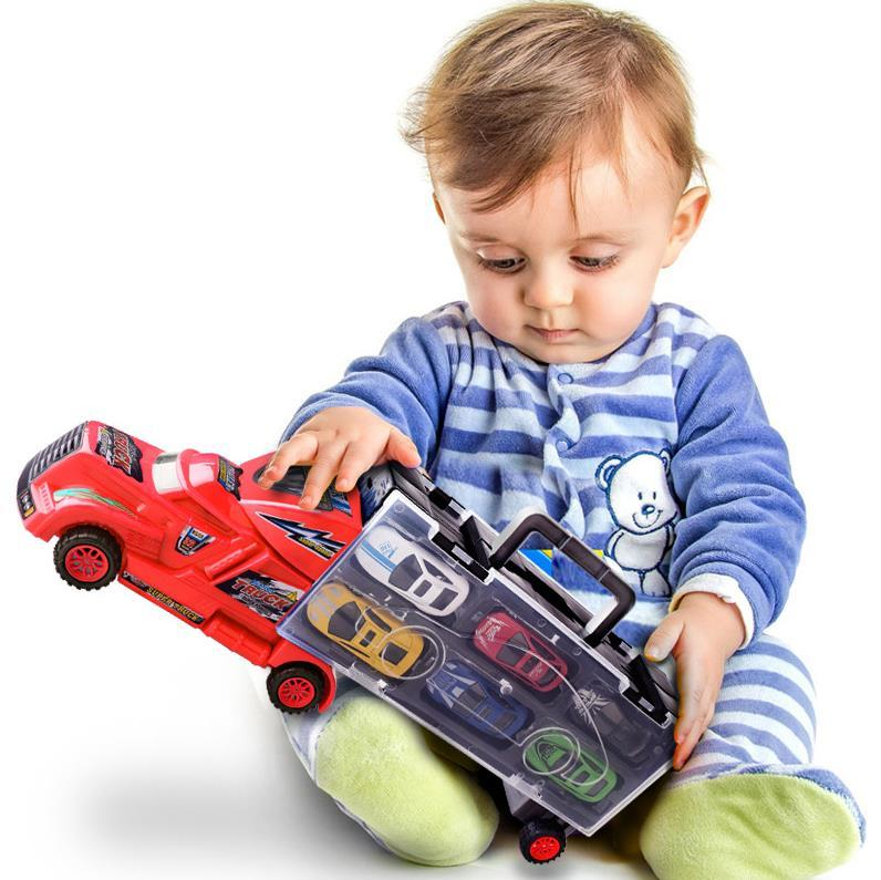 Kids Toy Truck with 6 Small Cars