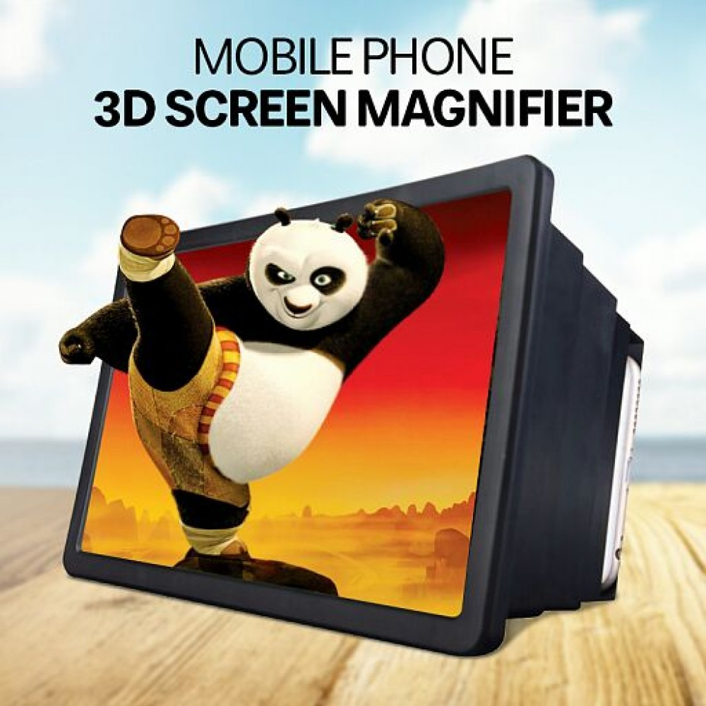 HD F2 Mobile Phone Screen Amplifier Thicken Lens Mobile HD Video Amplifier, HD Amplifier Projector Magnifying Screen become larger for Movies, Videos, and Gaming