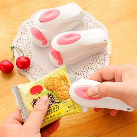 Mini Kitchen Household Package Sealing Machine-New Universal Mini Portable Heat Impulse Bag Sealer For Snack Bags Plastic Bag  Kitchen Storage Sealing Tools  Convenient Sealers Simple Snack Packer-High Quality