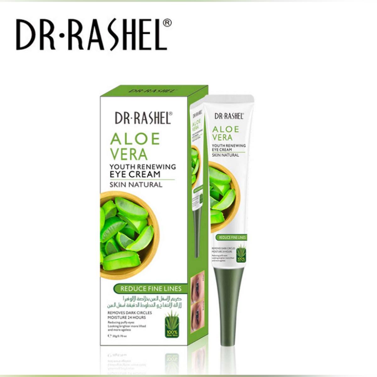 DR.RASHEL Aloe Vera Eye Cream Remove Dark Circles Puffiness Refreshing Eye Care Serum Anti Wrinkles Hydrating Eyes Ageless Cream 20g DRL 1533