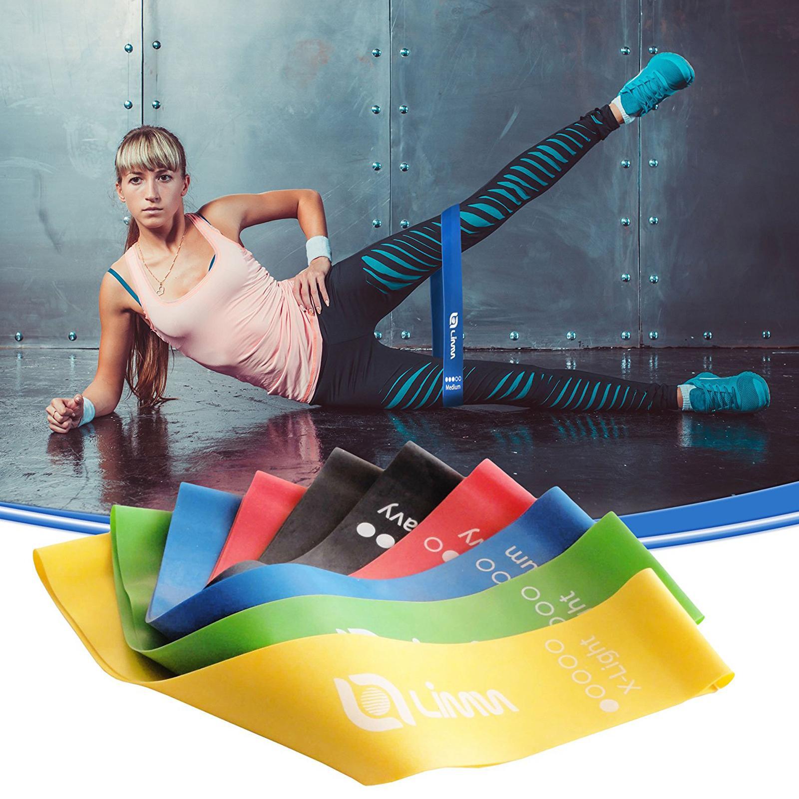Resistance Band Exercise Loop Elastic Belt Leg Workout Gym ( 1,Piece )