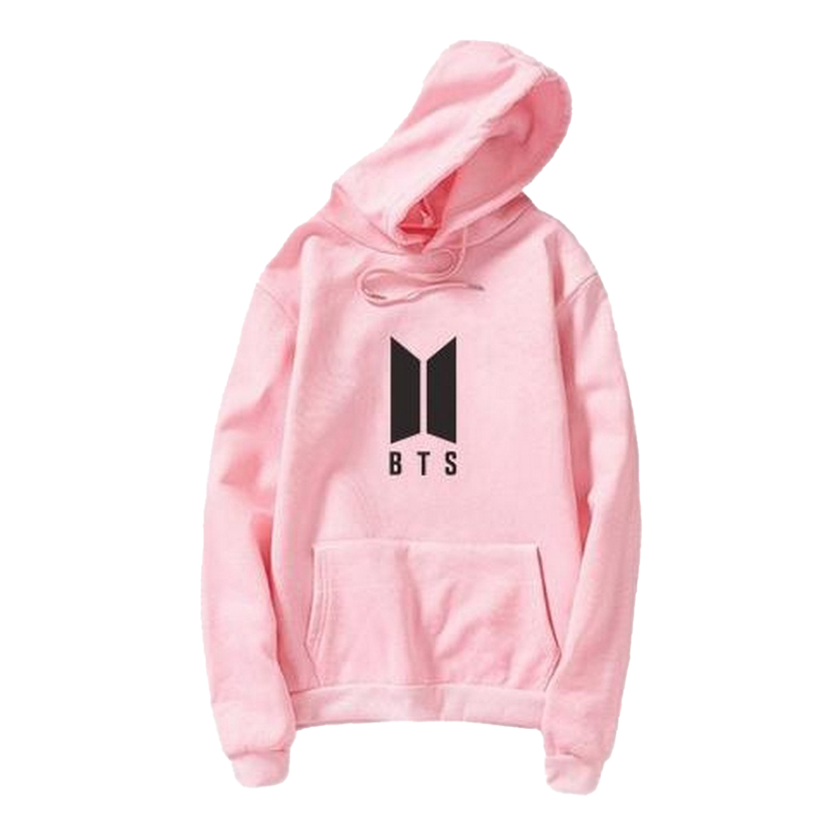 BTS Baby Pink Hoodie Pocket Drawstring Hooded Casual Pullover