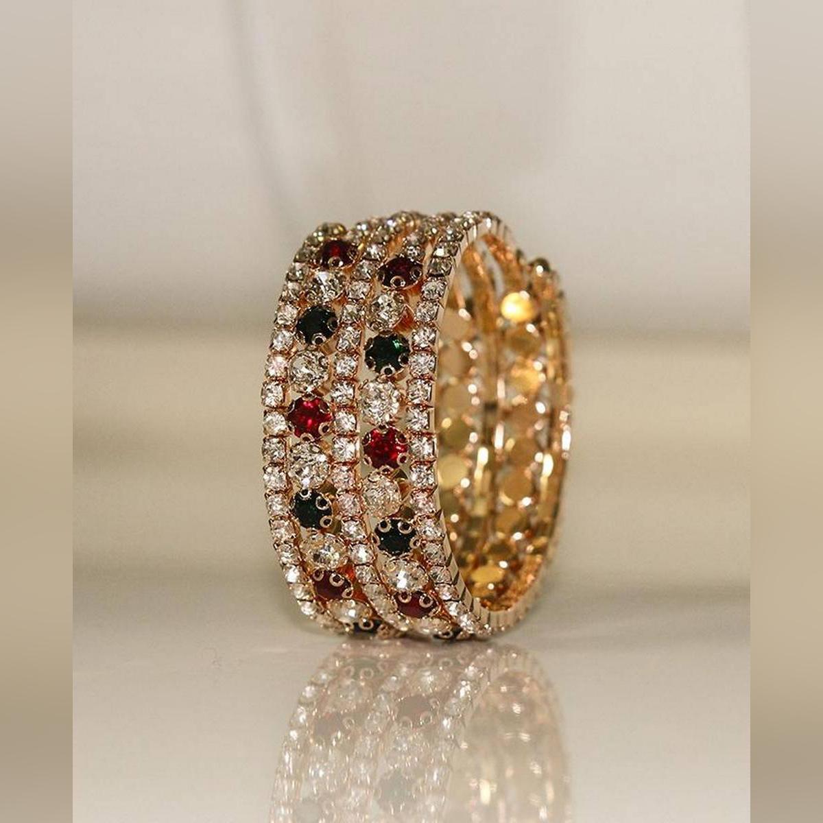 Flexible Fancy Bracelet (Red, Green, Silver and Golden)