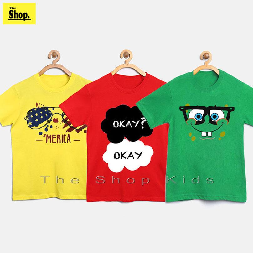 The Shop - Yellow Red Green High Quality T-shirts For Kids - Yr-g3