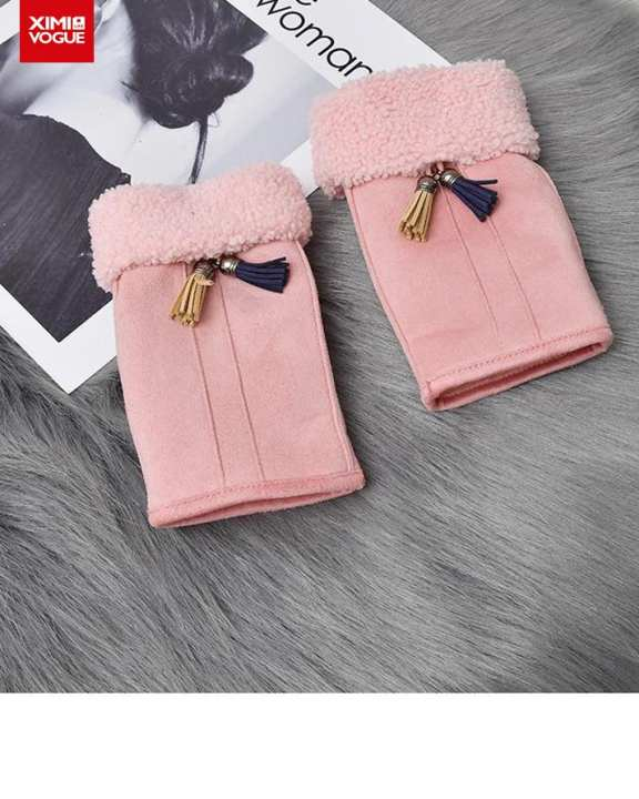 Soft and Fashionable Half Fingers Hand Gloves Super Warmer for Women
