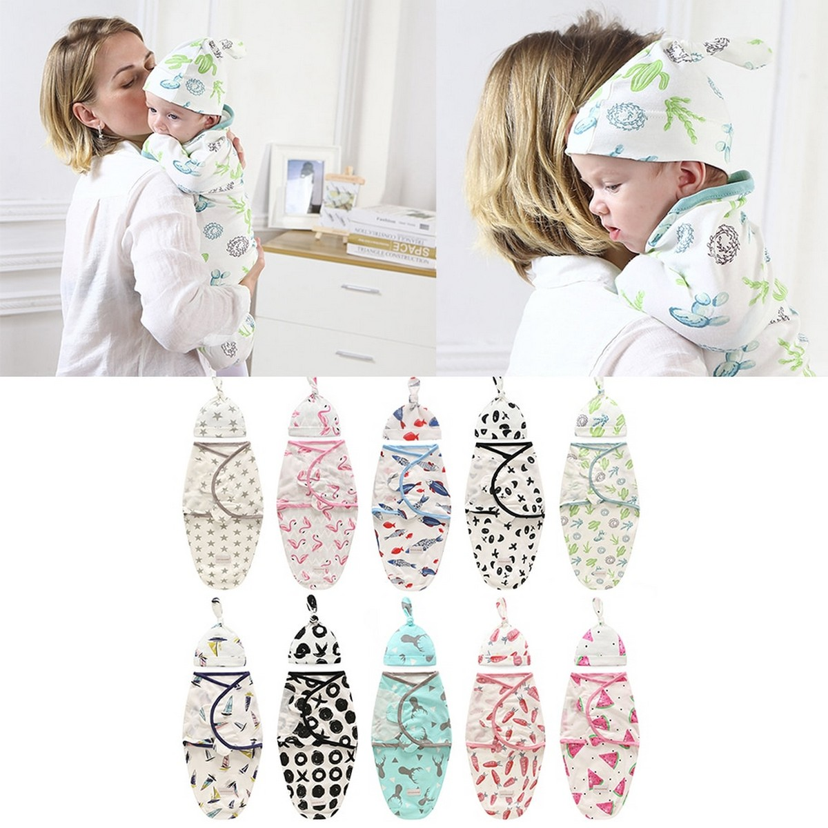 Soft & Ventilated Baby Swaddle