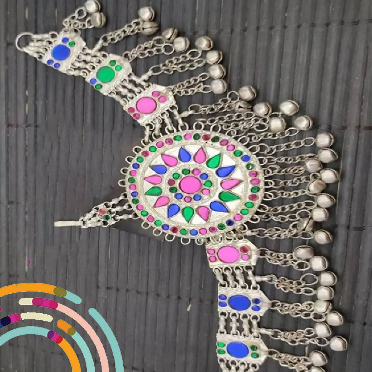 Top Trend Fashion Forehead Chain Jewelry Traditional Style Adjustable Beautiful Matha Patti with Colorful Beads