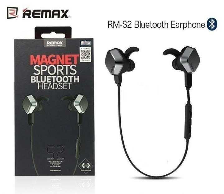 Remax S2 Magnetic Sports Bluetooth Wireless Handsfree, Handfree, Headphone, Earphone
