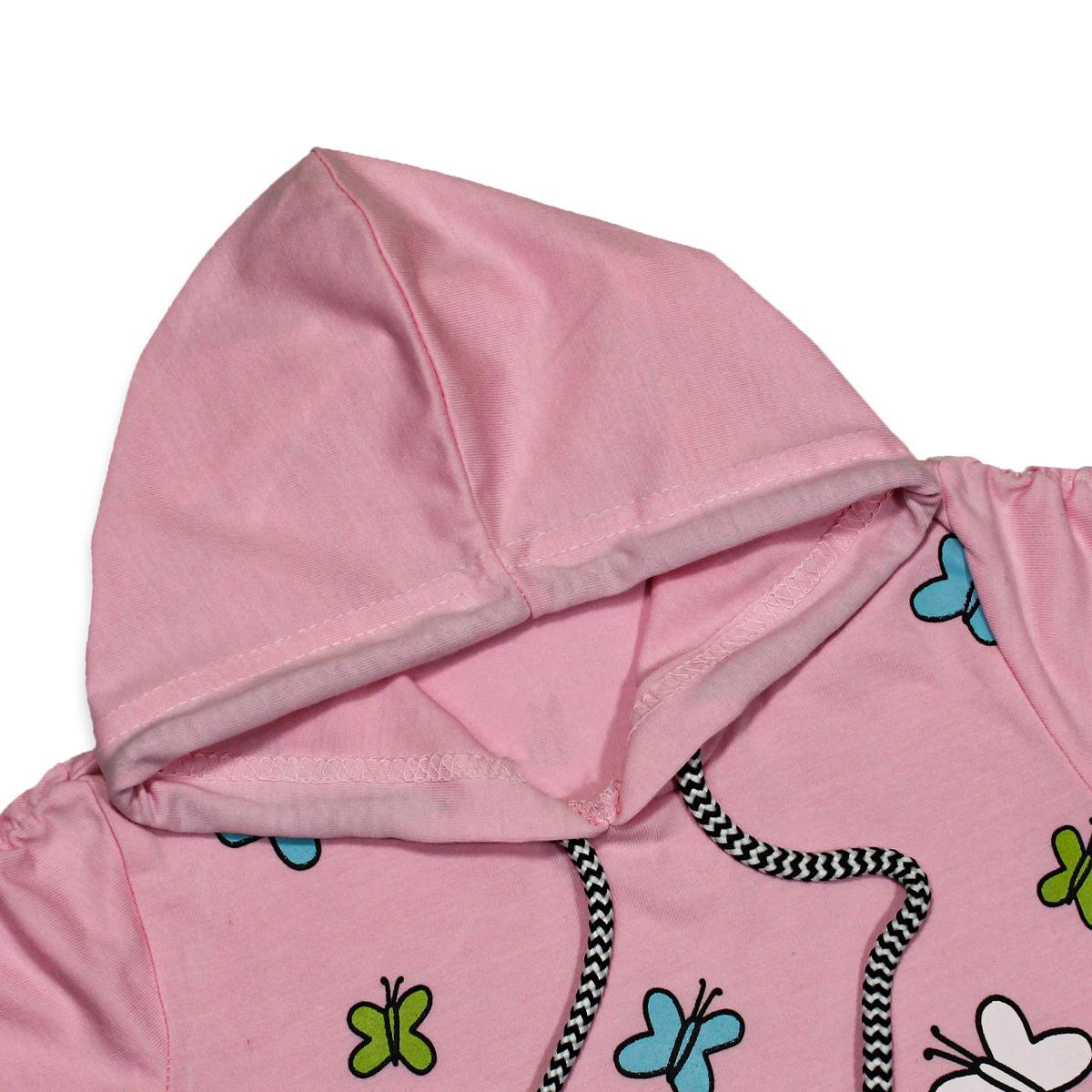 Cut Price 2.5yrs - 7yrs Hoodie T-shirt For Girls Cycle
