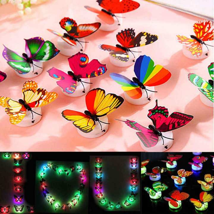 Glow In The Dark Led Butterfly Night Light Led Color Changing For Kids Room Glowing