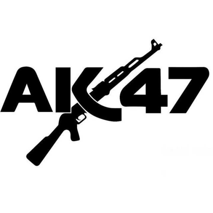 "Akgun red Car Sticker(5"" x 3"")"