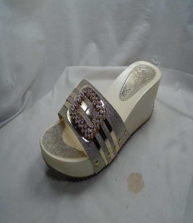Cream Color Bed sole SyntheticSlipper for Women 500-51163
