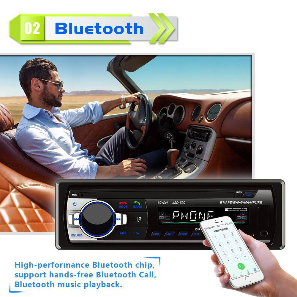 Free Spirit Car Stereo Bluetooth Audio Music MP3 Player FM AM Radio Aux  Input Receiver SD USB 4 x 45W MP3 Player Universal