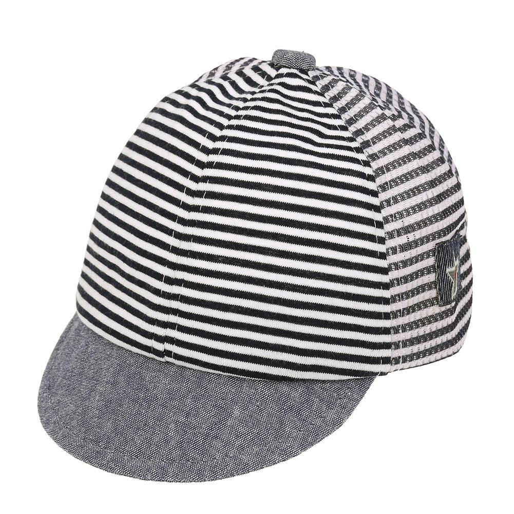0bd6a36abae Summer Fashion Baby Hats Boys Girls Children Stripe Pentagram Baseball Cap