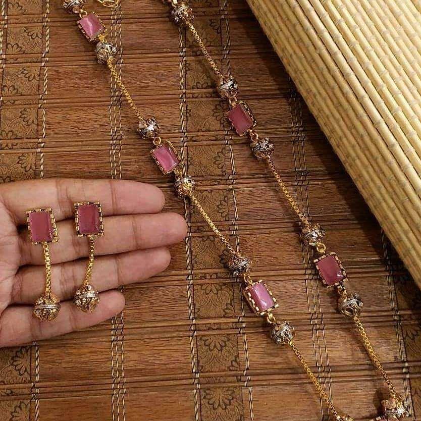 - Turkish Stone Jewellery - Mala with earings