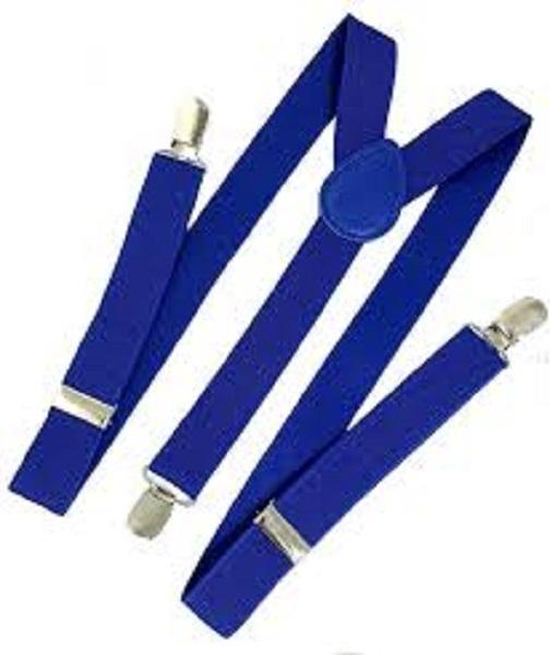 Elastic Galas Suspenders For Boys, Girls, Kids, Children Royal Blue