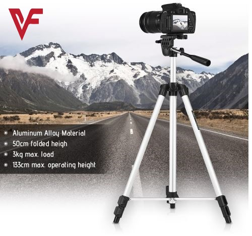 Tripod 330A With Bag For Digital SLR & Video Cameras & Mobile Phones 3110/3120 Model 2019 Portable and Flexible Tripod Stand For Mobile Phone and Camera For Videography and Photography Adjustable